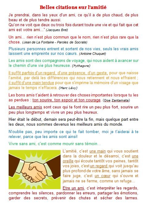 Citation belle rencontre amitie blog