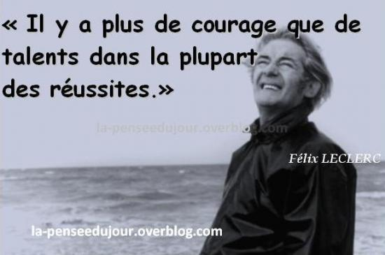 Courage et talent