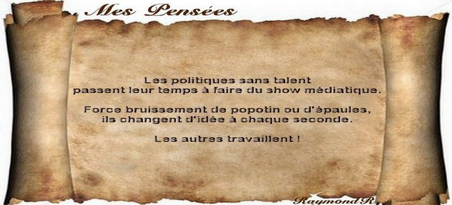 Politique sans talent